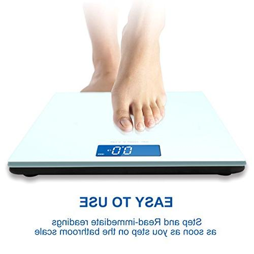 400lb Body Scale with Balance Platform Step-On Technology Backlit Scale