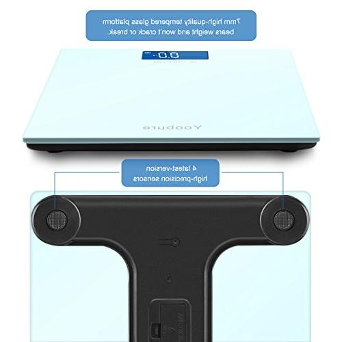 400lb with Glass Platform Technology Large Easy Backlit LCD Scale