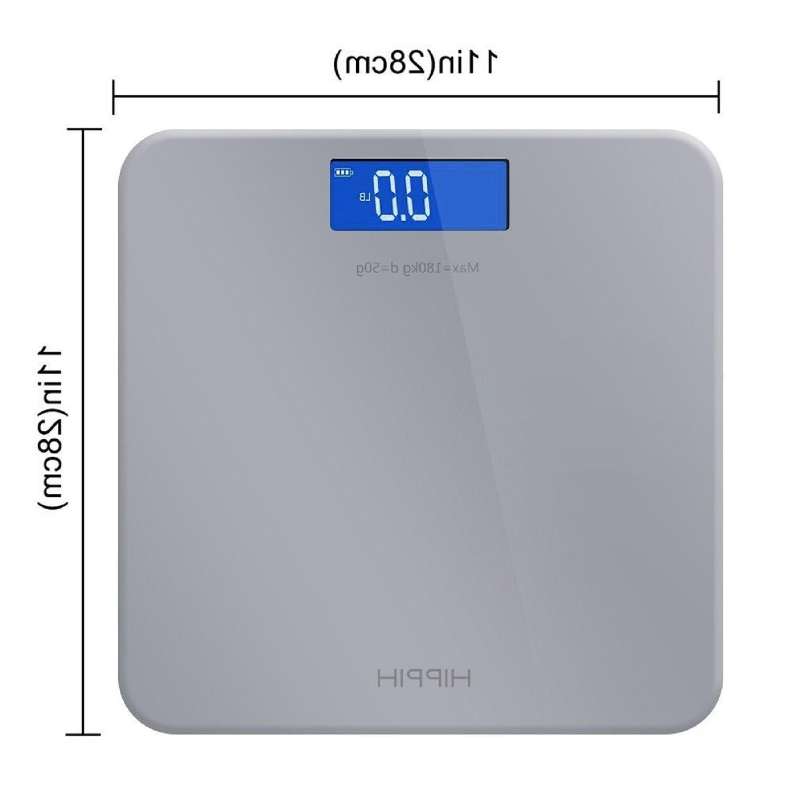 Digital Body Weight LCD Glass Electronic Fat