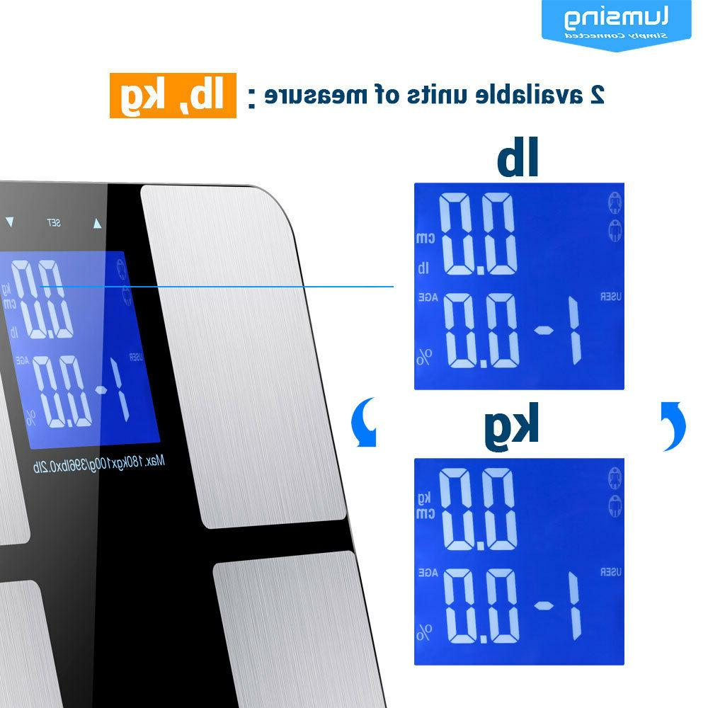 Lumsing LCD Bathroom Body Weight Scale Tempered