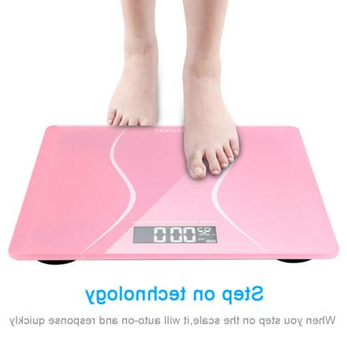 Bathroom Personal Body Scale Weight LCD 400lb x