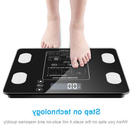 Bathroom Scales Weight Scale Smart Body Fat Bones BMI Digita