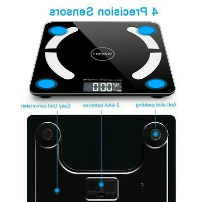 Bathroom Weight Scale Smart Fat BMI Digital Fitness