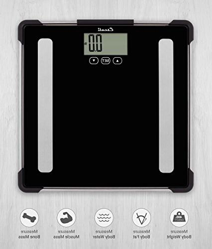 Escali Analyzing Bathroom Scale Body Composition Scale for Weight, Fat, Body Mass and - Lifetime ltd. - BF180
