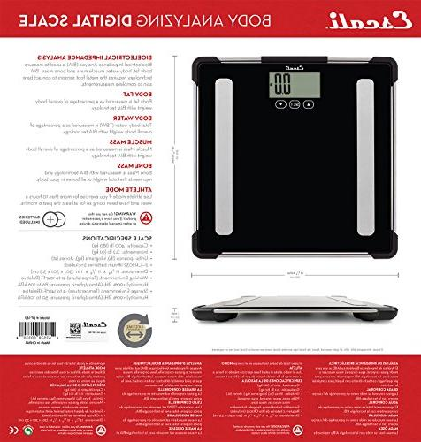 Escali for Measuring Weight, Fat, Body Mass Density - - BF180 Black