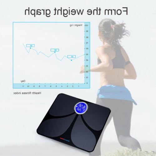 bluetooth digital lcd weight scales body fat