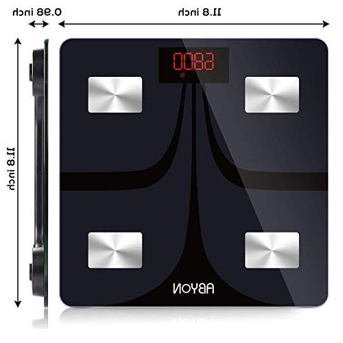 Bluetooth Weight Scale - Body Analyzer with iOS Android for Fitness - Digital Bathroom Scale,400