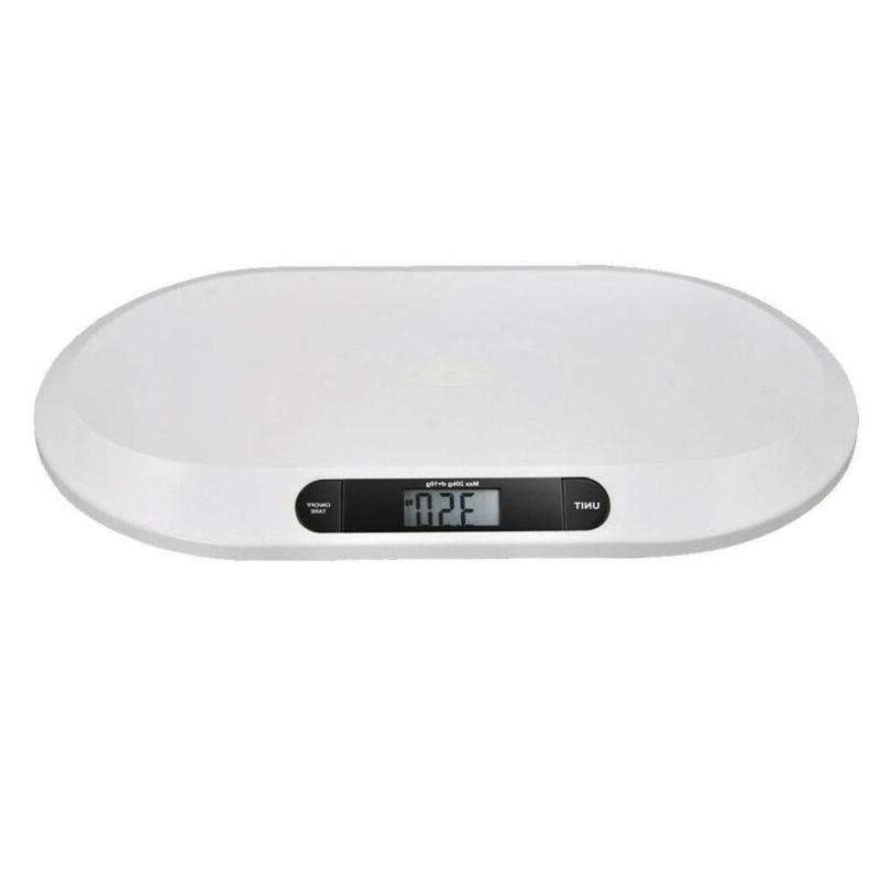 44 LBS Digital Scale Weight Electronic Cat Scale White