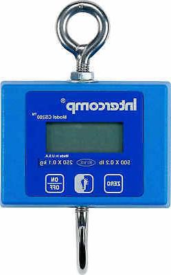 Intercomp CS200 Digital Hanging Scale 500 lb./250 kg Capacit
