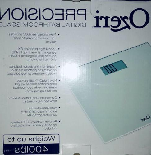 Digital Bathroom Scale Precision Tempered Glass Quality LCD