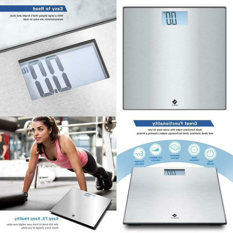 digital body weight bathroom scale stainless steel
