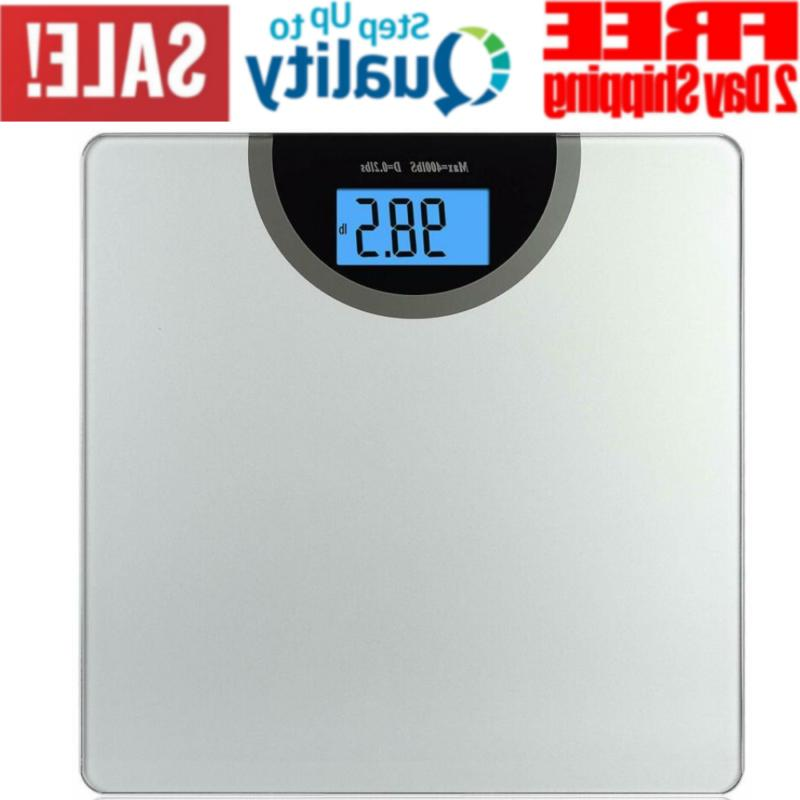 digital body weight bathroom scale with step