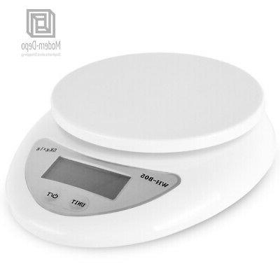Digital Kitchen Scale Food Scale with Bowl & 2x AAA Batteries