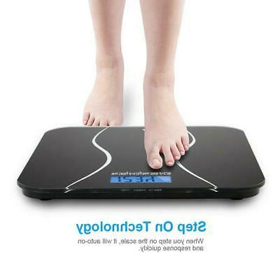 Digital LCD Personal Glass Body Weighing