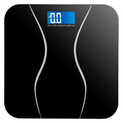 Digital LCD Glass Bathroom Body Weight Weighing Scales 396LB