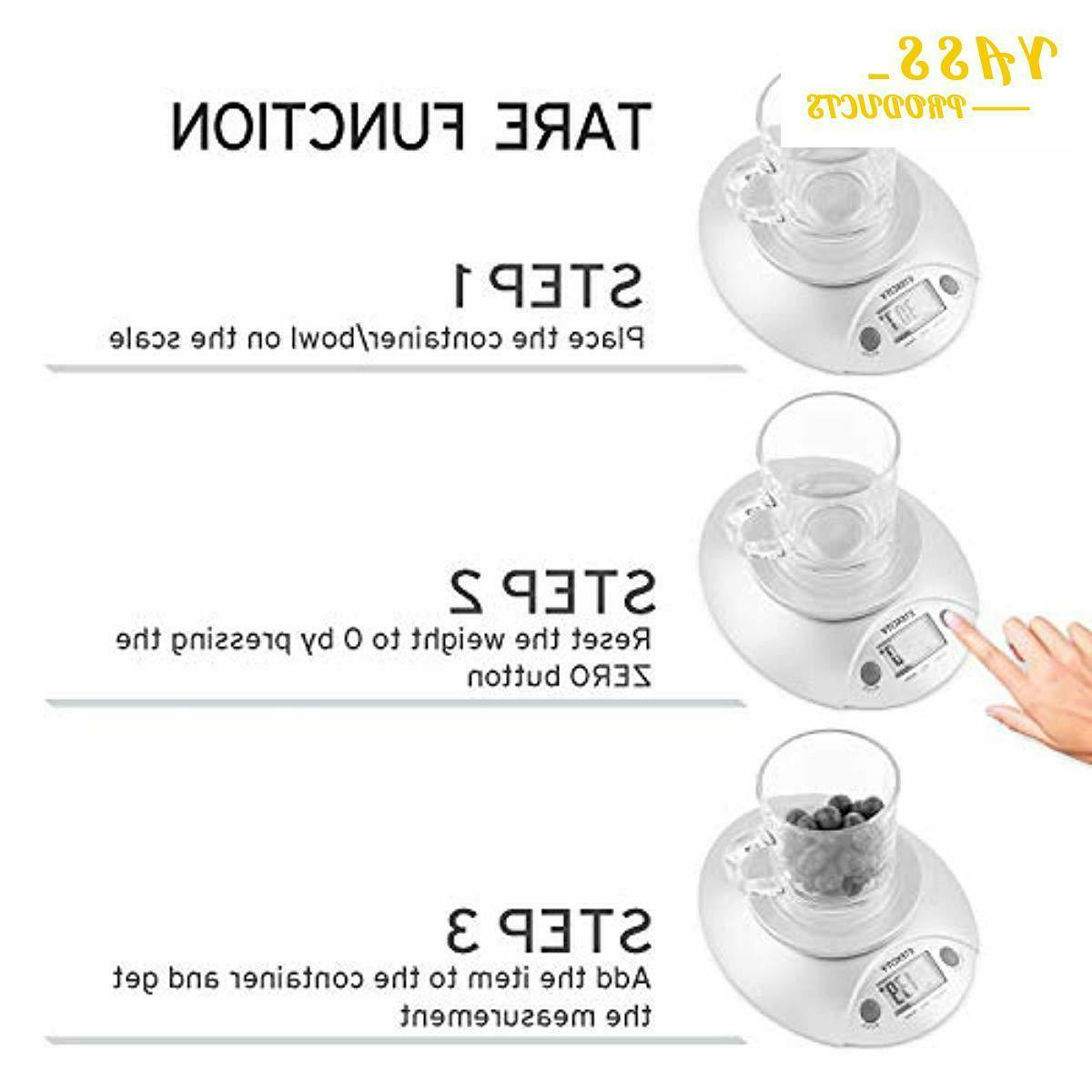 Digital Kitchen Food Scale and Scale with Bowl