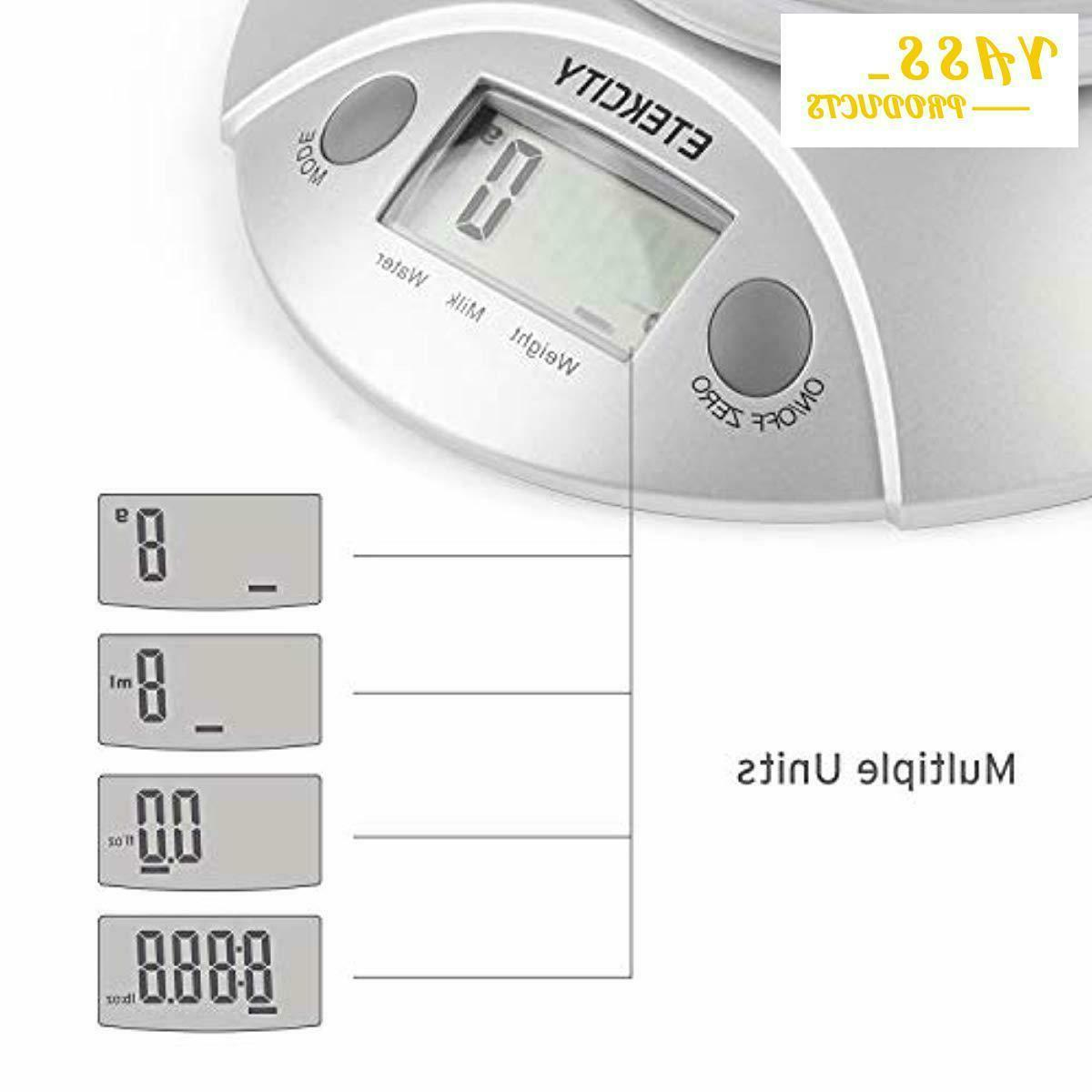 Digital and Weight Scale with Bowl