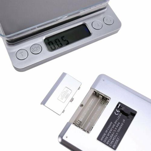 Digital Scale 3000g 0.1g Jewelry Gold Coin Pocket Herb Grain