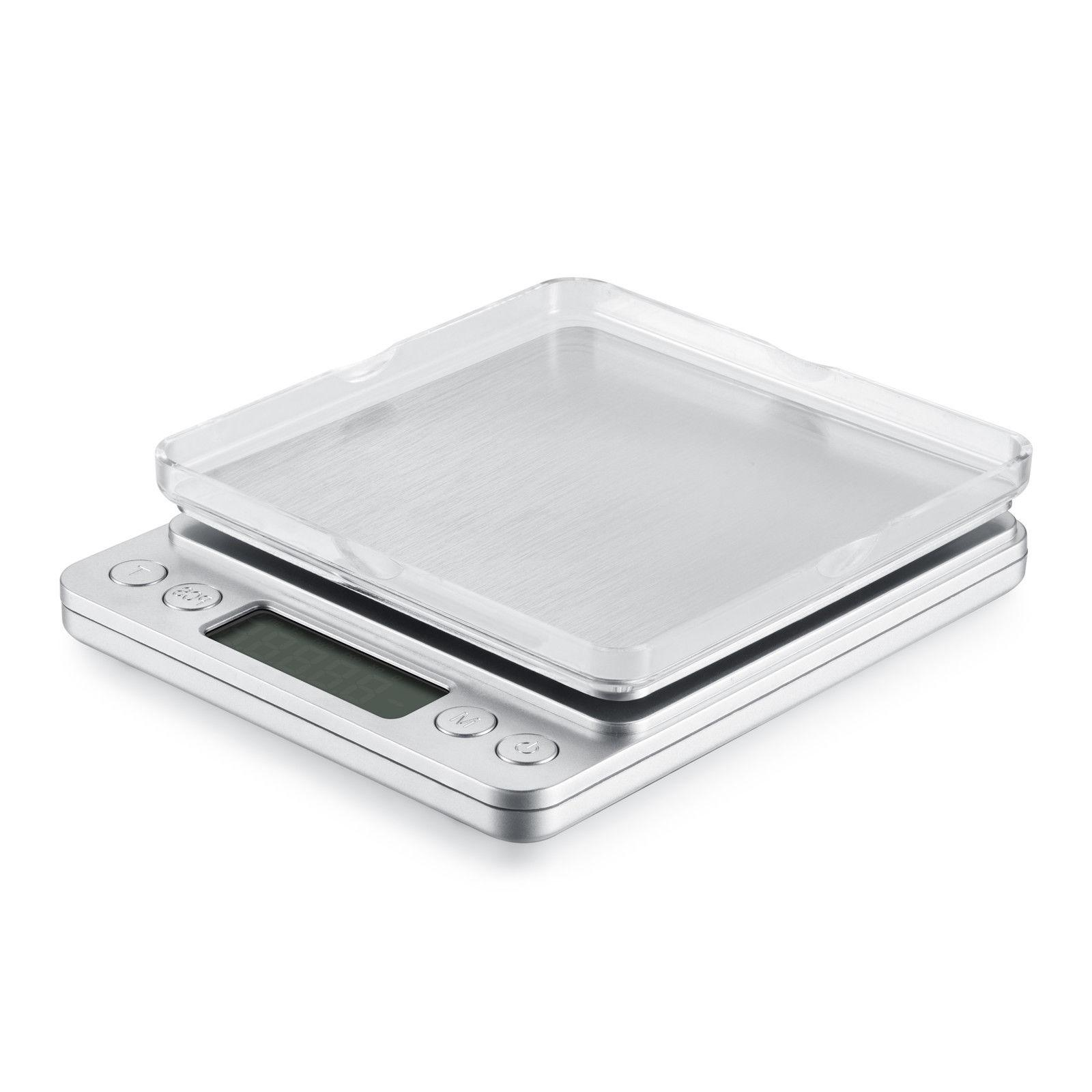 Digital Scale 3000g x 0.1g Jewelry Gold Silver Coin Gram Size Herb Grain