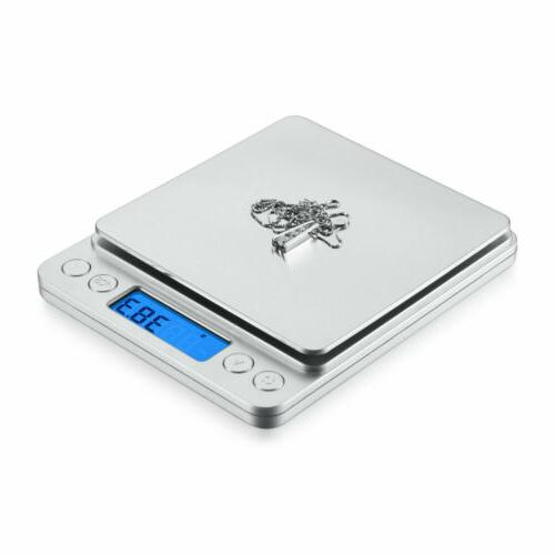Digital Scale x 0.1g LCD Gold Silver Kitchen +