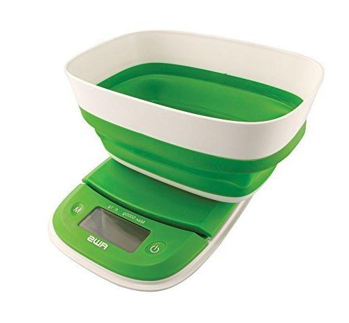 extended silicone bowl kitchen scale