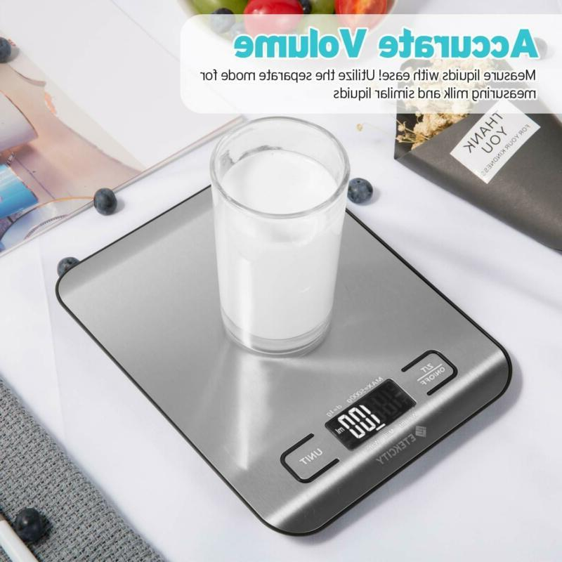 Etekcity Weight Scale Grams Oz, Backlit, Stainless Stee