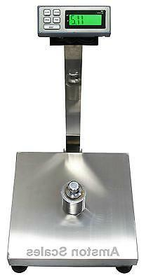 "HEAVY DUTY 500 LB x 0.1 LB 18x24"" DIGITAL SCALE RECEIVING PL"