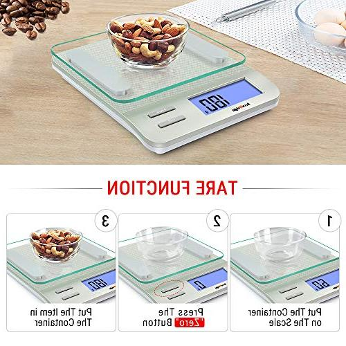 AccuWeight Digital Multifunction Cooking with Large LCD Display,Easy with Measuring,Tempered 0,