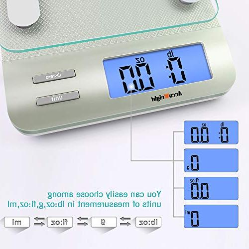 AccuWeight Multifunction Scale with Precision Measuring,Tempered Glass, 0, Silver