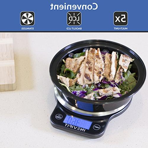 INEVIFIT DIGITAL Highly Accurate Multifunction Scale Max, Clean with Stainless Finish. Includes Batteries &
