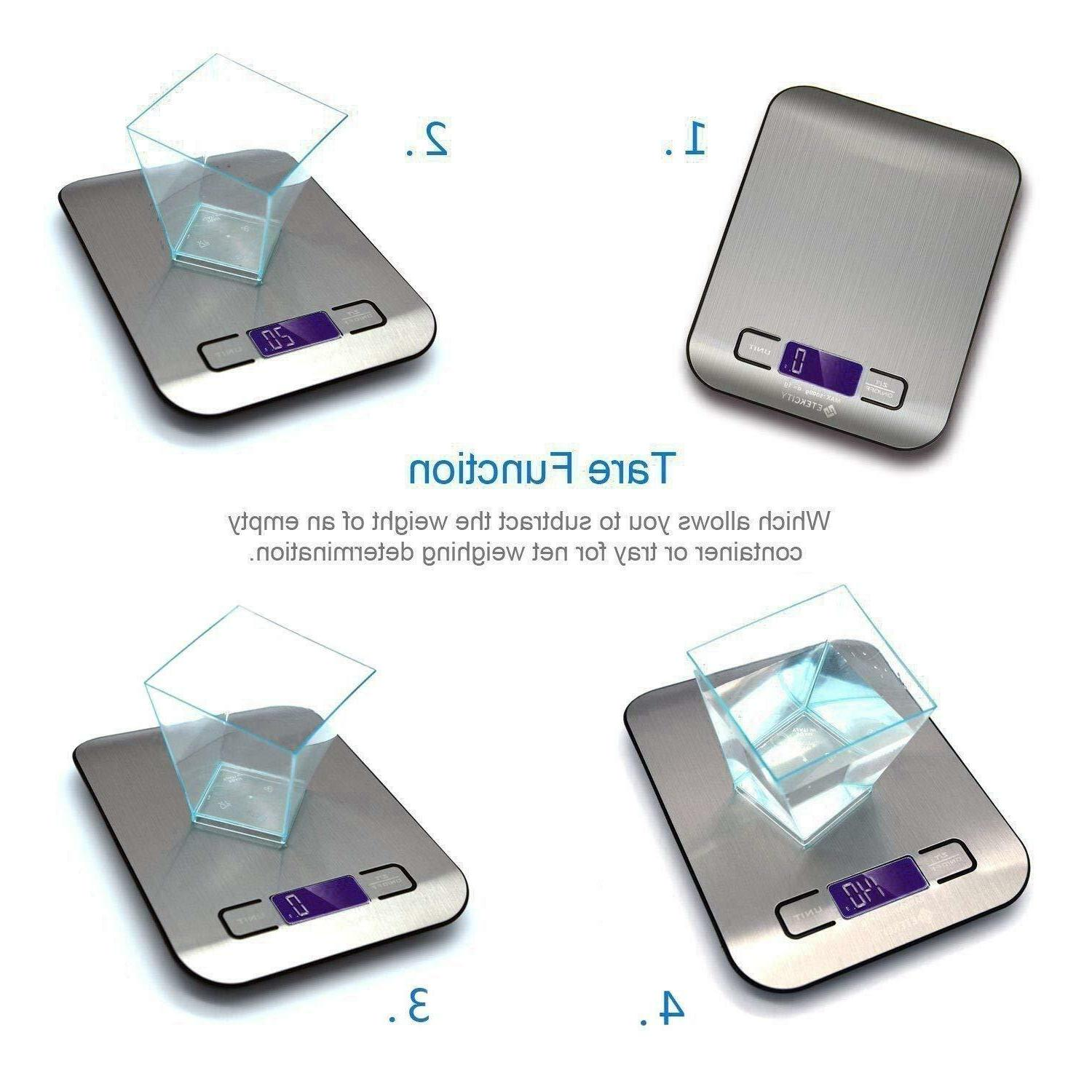Kitchen Scale Electronic Weighing Scale Gram Accurate NEW