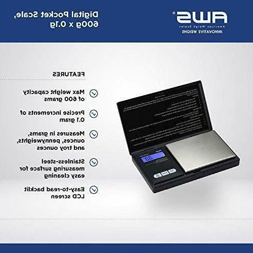 NEW American Weigh Digital Pocket Size