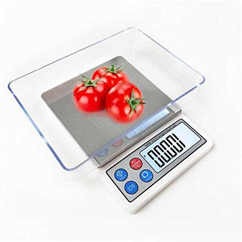 Toprime Scale, Mini Size 600g Precision Pocket Scale LCD display and Tray, Convert -