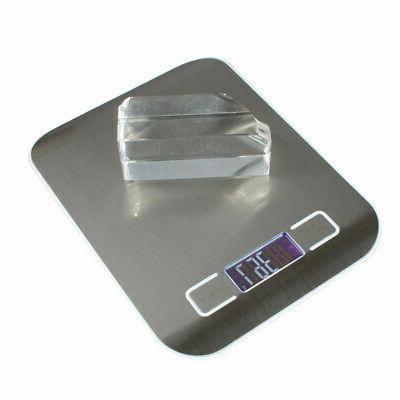 Portable 11 lb kg Multifunction Food Scale, Stainless