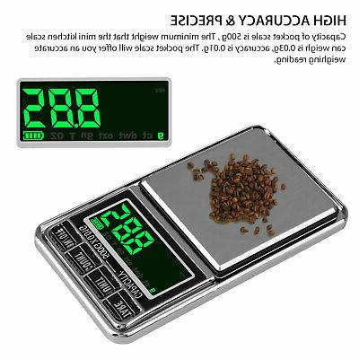 Digital Pocket Scale x Portable Jewelry Coin Gold