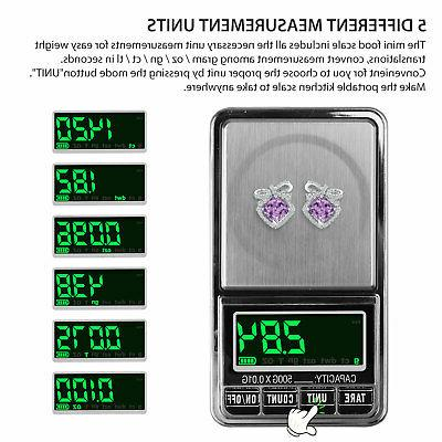 Digital Pocket Scale x 0.1g Portable Jewelry Gram Herb Gold