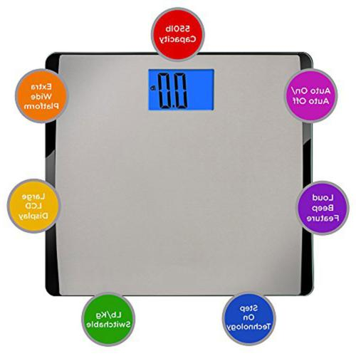 EatSmart Precision Extra-High Digital Bathroom Scale with