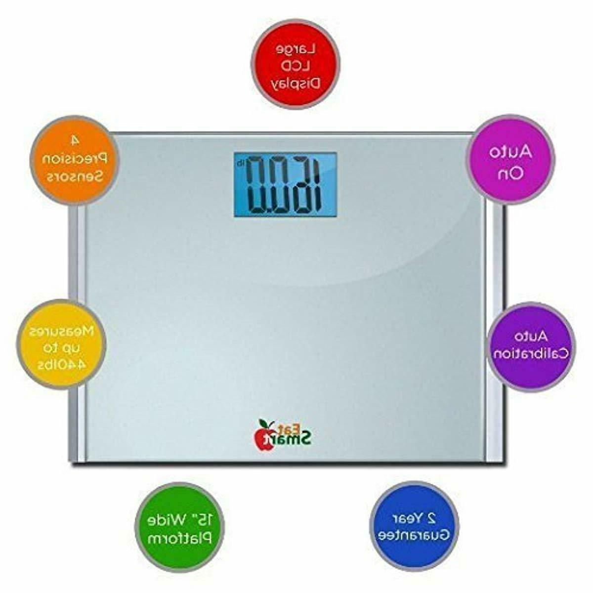 Eatsmart Precision Bathroom Scale with Ultra and 440 lbs