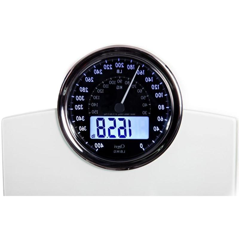 Rev Bathroom Scale with Electro-Mechanical Weight Dial 50 g
