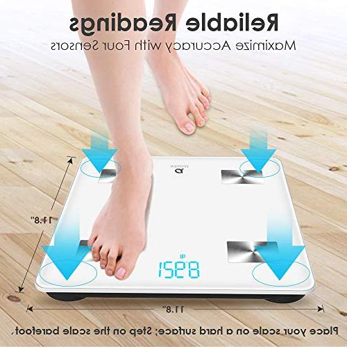 Fat Scale Scales with & Android APP, Unlimited Recognition for BMI, BMR,