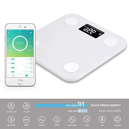 Yunmai Smart Bluetooth Body Fat Weight Scale APP Body Composition Monitor Analyzer Display, Work 8/iPhone