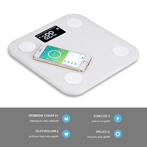 Yunmai Smart Body Digital Weight Free APP Composition Display, with 8/iPhone