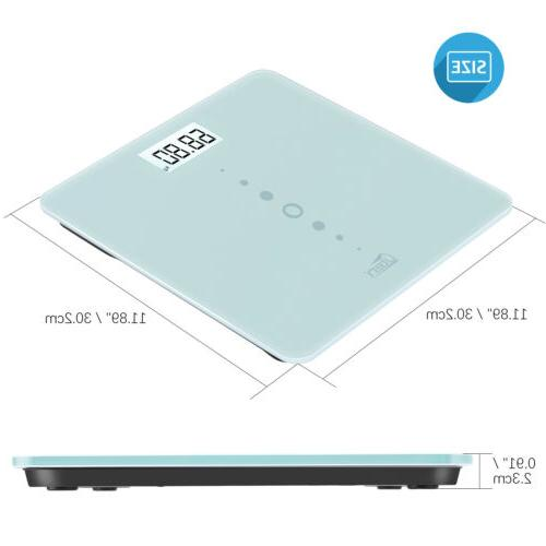 Electronic LCD Weight Scale w/Battery Tempered Glass