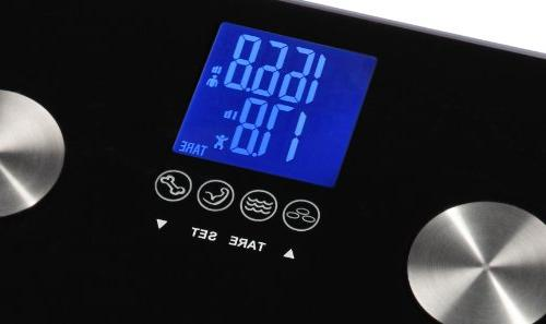 Ozeri 440 Digital Measures Weight, Body Hydration, & Mass w Auto Recognition for
