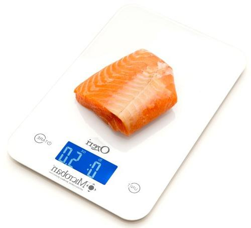 Ozeri Touch Kitchen Scale with Microban Antimicrobial Product Protection, lbs
