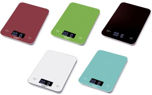 touch professional digital kitchen scales tempered glass