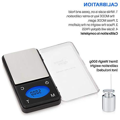 Smart Weigh Ultra Digital Pocket with Counting Feature,Jewelry Scale,Food 600 0.1 grams