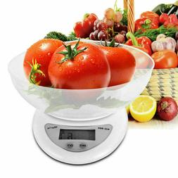 LCD Digital Kitchen Scale 11LBS Electronic Weight Diet Food