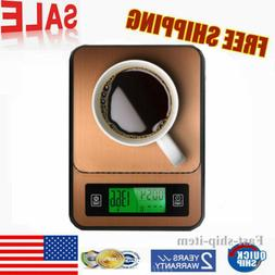 LCD Display Accurate Digital Scale Kitchen Bar Coffee Scale