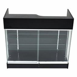 Ledgetop POS Sales Retail Display 4' Glass Showcase Counter